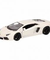 Speelgoedauto lamborghini aventador lp700 4 wit 12 cm