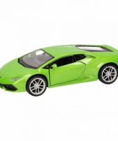 Speelgoedauto lamborghini huracan lp610 4 groen 12 cm