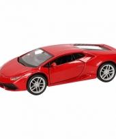 Speelgoedauto lamborghini huracan lp610 4 rood 12 cm