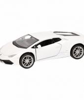 Speelgoedauto lamborghini huracan lp610 4 wit 12 cm