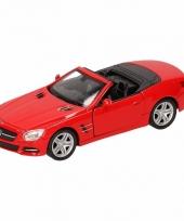 Speelgoedauto mercedes benz 2012 sl500 cabrio rood 12 cm 10093411