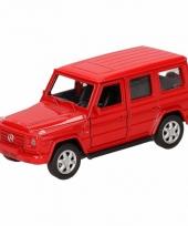 Speelgoedauto mercedes benz g class rood 12 cm