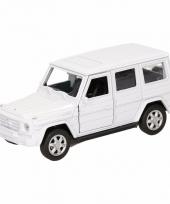 Speelgoedauto mercedes benz g class wit 12 cm