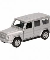 Speelgoedauto mercedes benz g class zilver 12 cm