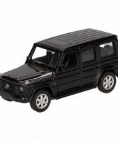 Speelgoedauto mercedes benz g class zwart 12 cm