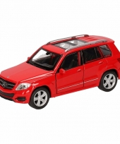 Speelgoedauto mercedes benz glk rood 12 cm