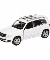 Speelgoedauto mercedes benz glk wit 12 cm