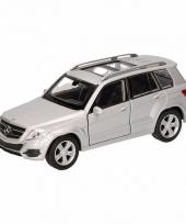 Speelgoedauto mercedes benz glk zilver 12 cm