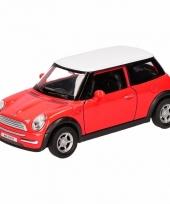 Speelgoedauto mini cooper rood 12 cm