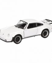 Speelgoedauto porsche 911 turbo wit 12 cm