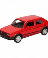 Speelgoedauto volkswagen golf i gran turismo rood 12 cm