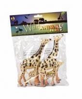 Speelgoedsetje giraffes rubber 4st