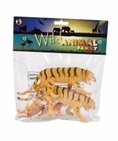 Speelgoedsetje tijgers rubber 4st