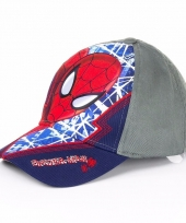 Spiderman cap navy blauw