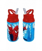 Spiderman drink fles rood