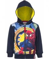 Spiderman kleding jongens vest blauw