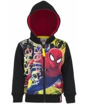 Spiderman kleding jongens vest zwart