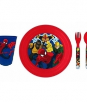 Spiderman lunchservies voor kids