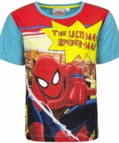 Spiderman shirt blauwe mouwen