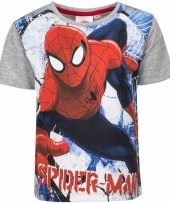 Spiderman shirt grijze mouwen