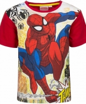 Spiderman shirt rode mouwen