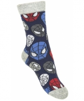 Spiderman sokjes blauw type 1
