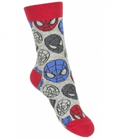 Spiderman sokjes grijs type 1
