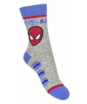 Spiderman sokjes grijs type 2