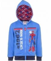 Spiderman sweatshirt voor jongens blauw