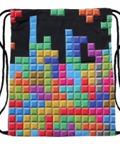 Sporttasje met tetris print