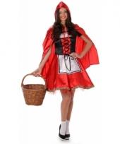 Sprookjes kostuum roodkapje voor dames 10079473