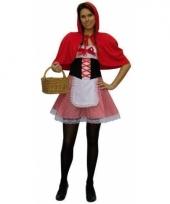 Sprookjes kostuum roodkapje voor dames