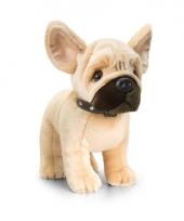 Staande franse bulldog knuffel pluche 40cm