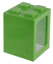 Stapel spaarpotje groen 11 cm