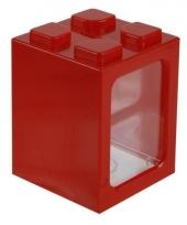 Stapel spaarpotje rood 11 cm