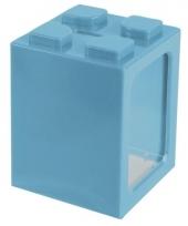 Stapel spaarpotje turquoise 11 cm