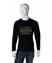 Star wars kleding heren t-shirt lange mouw