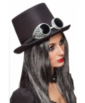 Steampunk thema hoed met bril