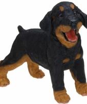 Stenen rottweiler puppy 29 cm staand