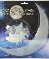 Sterrenhemel maan met sterren glow in the dark 13 stuks