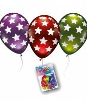 Sterrenprint ballonnen in metallic kleuren