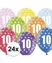 Sterretjes ballonnen 10e verjaardag 24x