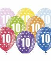 Sterretjes ballonnen 10e verjaardag