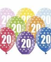 Sterretjes ballonnen 20e verjaardag