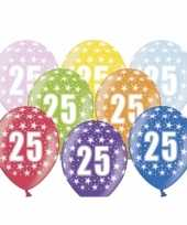 Sterretjes ballonnen 25e verjaardag