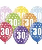 Sterretjes ballonnen 30e verjaardag