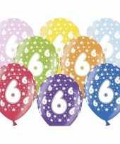 Sterretjes ballonnen 6e verjaardag