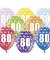 Sterretjes ballonnen 80e verjaardag