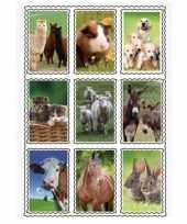 Stickervel 3d boerderijdieren 9 stuks