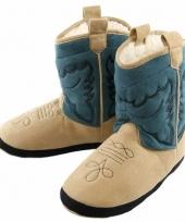 Stoere jongens cowboy slof laarzen blauw